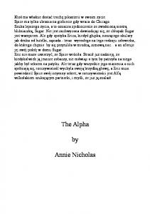 Annie Nicholas The Vanguards 02 The Alpha