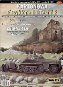 Answer - Kartonowa Encyklopedia Techniki 2003-01 - Sd.Kfz. 252 + Sd.Anh. 32