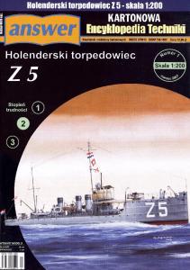 Answer - Kartonowa Encyklopedia Techniki 2007-01 - Hollandisches Torpedoboot Z 5