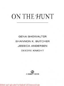 Anthology - On the Hunt