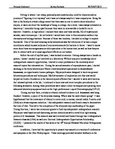 Ashley Richards - Personal statement