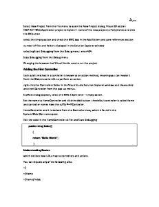 ASP.NET Notes 1