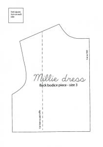 Back bodice-size 3