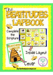 Beatitudes Bee Match lapbook x SEC