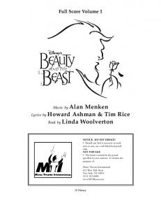 Beauty And The Beast (Full Orchestra Score)
