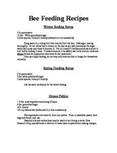 Bee Feeding Recipes