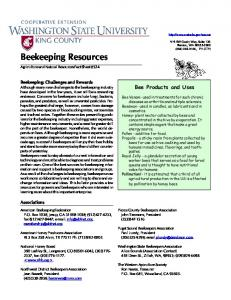 Beekeeping resources