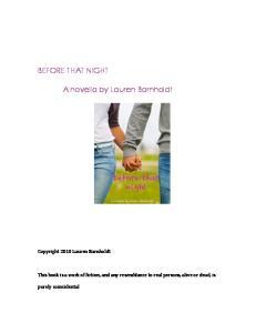 Before That Night - Lauren Barnholdt
