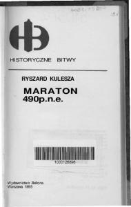 Bellona - Historyczne Bitwy - Maraton 490 P N