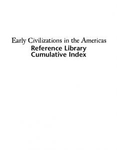 Benson S. Early Civilizations in the Americas. Vol. 4. Index