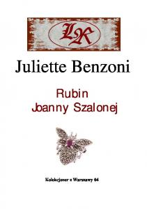 Benzoni Juliette Kolekcjoner z Warszawy 04 Rubin Joanny Szalonej