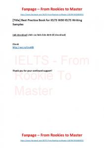 Best Practice Book for IELTS W30 IELTS Writing Samples