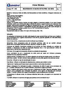 Bicarbonato de Sodio Extra Fino cod. 101