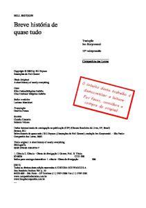 Breve Historia de Quase-Tudo - Bill Bryson