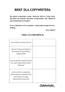 brief dla copywritera - template