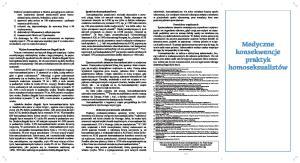 broszura 2a - medyczne_pop (Medical Consequences) HOMOFOBICZNA PROPAGANDA