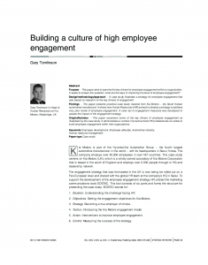 Building a culture of high employee