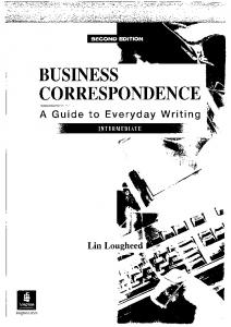 Business Correspondence A Guide to Everyday Writing