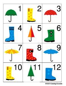 Calendar Cards - Rainy Days