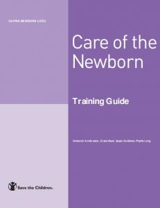 Care of the newborn