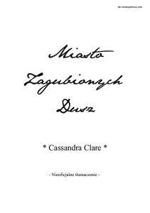 Cassandra Clare - 5 - Miasto zagubionych dusz