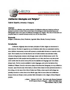 Celtiberian Ideologies and Religion