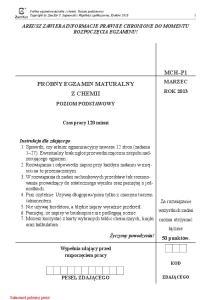 Chemia Podstawowy ZAMKOR Marzec 2013