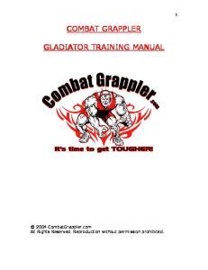 CombatGrappler.com - Gladiator Training Manual