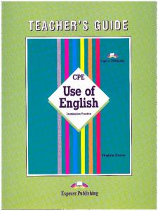 CPE Use Of English - Virginia Evans, teachers book