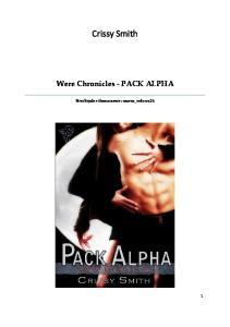 Crissy Smith - Pack Alfa. Tom 1