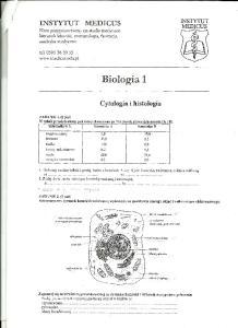 Cytologia i histologia 1