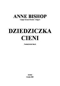 Czarne Kamienie 02 - Dziedziczka Cieni - Bishop Anne-1