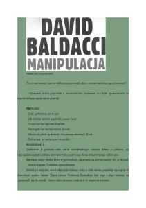 David Baldacci -- Manipulacja