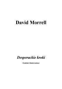 David Morrell - Desperackie Kroki