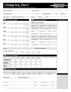DD 3 5 Edition Character Sheet Revised