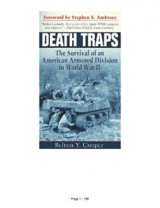 Death Traps The Survival of an
