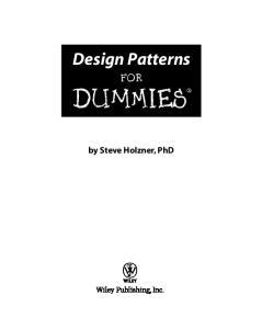 Design Patterns for Dummies (ISBN - 0471798541)