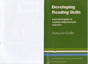 Developing reading skills - Francoise Grellet