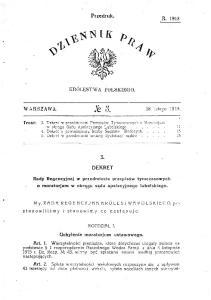 Dziennik Praw 1918 nr 3 poz 3