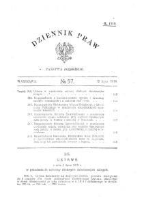 Dziennik Praw 1919 nr 57 poz 345