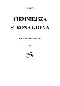 E L James Ciemniejsza Strona Greya 2