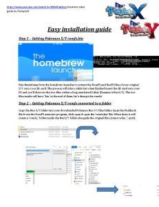 Easy installation guide