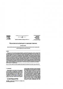 Electrochemical technologies in wastewater treatment