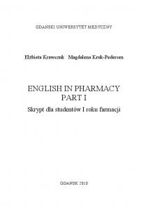 english in pharmacy