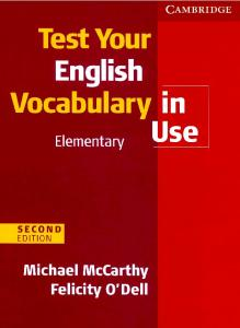English Vocabulry in Use Elementary Test Book