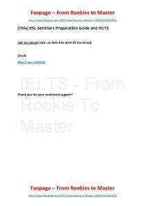 ESL Seminars Preparation Guide and IELTS