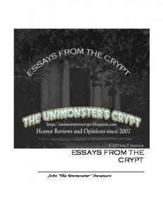 Essays from the Crypt