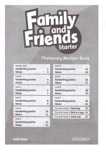 Family and Friends Starter Photocopy Masters Bo
