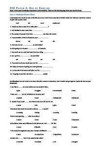 FCE Spotlight Paper 3 and Answer key