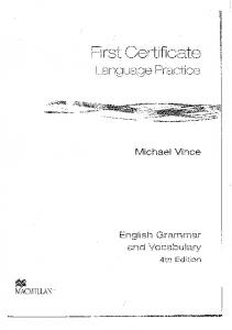 FIRST CERTIFICATE - LANGUAGE PRACTICE - NOWY 4th edition Vince